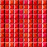 Modello rosso astratto delle mattonelle di sollievo, fondo controllato semplice di struttura 3D, illustrazione senza cuciture pia royalty illustrazione gratis