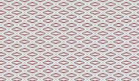 Modello rosso astratto moderno semplice del rombo di zigzag Fotografia Stock