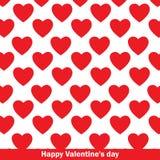 Modello rosso dei cuori Illustrazione di vettore Valentine& felice x27; giorno di s Immagine Stock Libera da Diritti