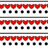 Modello rosso del cuore Immagine Stock