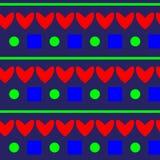 Modello rosso del cuore su fondo blu Immagine Stock Libera da Diritti