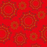 Modello rosso del fondo di Natale Fotografia Stock