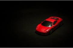 Modello rosso dell'automobile sportiva Immagini Stock