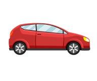 Modello rosso dell'automobile su fondo bianco Immagine Stock