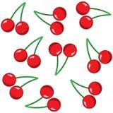 Modello rosso della ciliegia su fondo bianco Immagini Stock