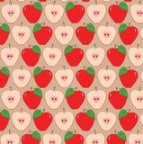 Modello rosso delle mele Immagini Stock Libere da Diritti