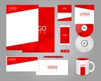 Modello rosso di identità corporativa royalty illustrazione gratis