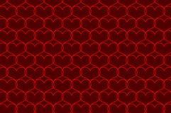 Modello rosso di vettore del cuore Immagine Stock