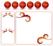 Modello rosso di Web site Fotografie Stock