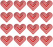 modello rosso e bianco del cuore Immagine Stock Libera da Diritti