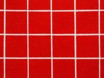 Modello rosso e bianco della tovaglia del percalle Fotografie Stock