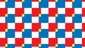 Modello rosso e blu checkred semplice Immagine Stock Libera da Diritti