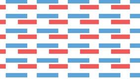 Modello rosso e blu semplice di rettangolo Fotografia Stock