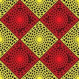 Modello rosso e giallo della grata Fotografie Stock Libere da Diritti