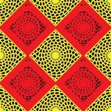 Modello rosso e giallo della grata Immagini Stock
