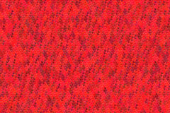 Modello rosso senza cuciture dei cuori per il fondo del biglietto di S. Valentino Fotografia Stock Libera da Diritti