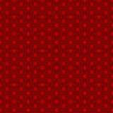 Modello rosso tradizionale senza cuciture dei trafori della geometria di stile cinese Immagine Stock