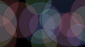 modello rotondo della matrice del mosaico del tangram 4k, carta di plastica della carta, cerchio di geometria frattale stock footage