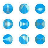 Modello rotondo di logo di vettore dell'onda di progettazione Immagini Stock