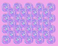 Modello rotondo di rosa di spirale dell'acquerello royalty illustrazione gratis