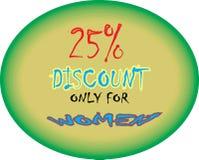 MODELLO ROTONDO di sconto del modello 25% di Collorfull soltanto per le immagini dell'icona del bottone del modello del iscount d illustrazione di stock