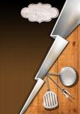 Modello rustico del menu Immagine Stock