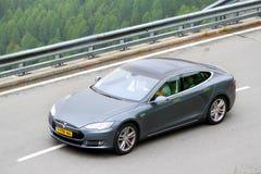 Modello S di Tesla Fotografie Stock Libere da Diritti