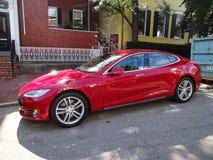 Modello S di Tesla a Georgetown Fotografia Stock