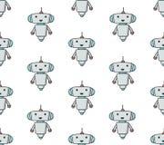 Modello sameless del robot sveglio fotografia stock libera da diritti