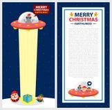 Modello Santa Claus della cartolina di Natale Immagine Stock