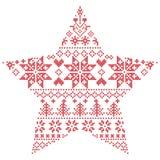 Modello scandinavo nella forma della stella Fotografia Stock