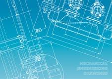Modello, schizzo Illustrazione di ingegneria di vettore royalty illustrazione gratis
