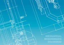 Modello, schizzo Illustrazione di ingegneria di vettore illustrazione vettoriale