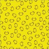 Modello seemless di Bitcoin su fondo giallo, vettore illustrazione vettoriale