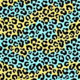 Modello selvaggio del leopardo senza cuciture Fotografie Stock Libere da Diritti