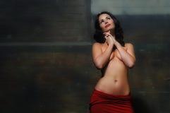 Modello semi nudo Fotografia Stock