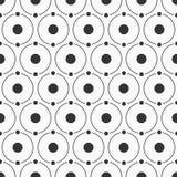 Modello semplice astratto dei cerchi e dei punti Immagini Stock