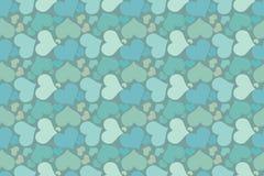 Modello semplice romantico blu senza fine Fotografie Stock