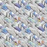Modello senza cuciture abbastanza fresco, generato sulla base dei giornali di tessitura torti Immagine Stock