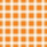 Modello senza cuciture arancio del percalle, illustrazione del fondo illustrazione vettoriale