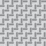 Modello senza cuciture astratto in bianco e nero con i quadrati Immagini Stock