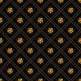 Modello senza cuciture astratto con i oraments dorati Progettazione di lusso del fondo struttura alla moda moderna Illustrazione  illustrazione di stock