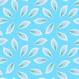 Modello senza cuciture astratto con i petali sparsi su un fondo del turchese illustrazione di stock