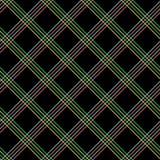 Modello senza cuciture astratto con il tessuto del plaid su un fondo nero Fotografia Stock