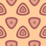 Modello senza cuciture astratto con il triangolo in lillà beige Fotografia Stock