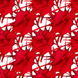Modello senza cuciture astratto con la spruzzata rossa dell'acquerello Struttura medica del sangue astratto Fondo di vettore Fotografia Stock Libera da Diritti