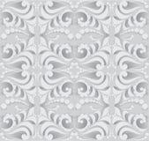 Modello senza cuciture astratto in 3D Fondo in tonalità di gray Fotografia Stock