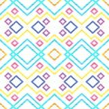 Modello senza cuciture astratto degli zigzag e delle linee illustrazione di stock