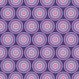 Modello senza cuciture astratto dei cerchi simmetricamente sistemati Fotografia Stock