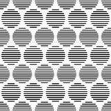 Modello senza cuciture astratto dei cerchi a strisce Immagine Stock